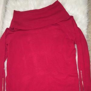 NWT Thalia Sodi Red Off the Shoulder Sweater